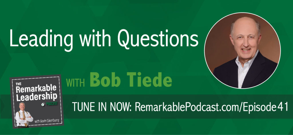 Does a leader need to know all the answers and tell others what to do?  Bob Tiede, the brain child behind leadingwithquestions.com, would argue that there is value in that and leaders (and their teams) are more successful when one leads with questions. Kevin and Bob discuss how to strengthen your skills to lead by asking.
