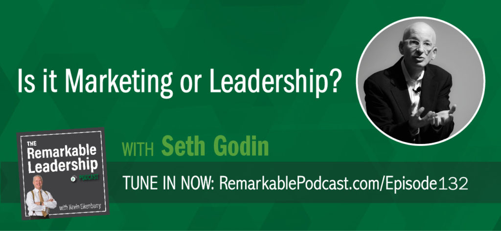 Seth Godin wants to be ahead of the curve. He believes his role is to notice things and share so individuals can change the culture. Seth is a best-selling author, entrepreneur, blogger, and in the Marketing Hall of Fame. He joins Kevin to discuss marketing, leadership, and thoughts from his most recent book This is Marketing. He believes this is all about doing work that matters for people who care. We need the guts to state our goal and the generosity to share it. Regardless of where we are, we can speak up and make change happen.