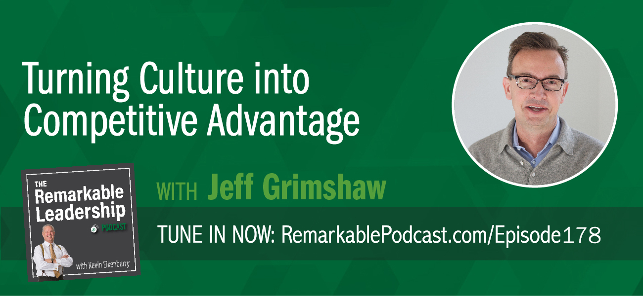 Leaders are always transmitting signals, whether they are intentional or not. Teams take cues from their leaders to create a culture and your culture can give you a competitive advantage. Jeff Grimshaw works to align people with their strategy and is the co-author of Five Frequencies: Leadership Signals that Turn Culture into Competitive Advantage. With over 20 years of research, Jeff and his colleagues found leaders create a culture through their words and actions (their signals) on Five Frequencies. Jeff discusses these frequencies and gives examples to turn the culture you have into the culture you need.