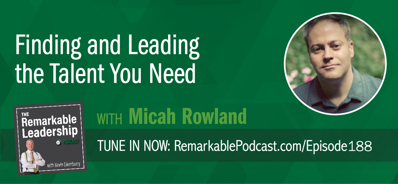 According to Micah Rowland, success starts with your people. As COO of Fountain, a software company that sources, screens, and onboards workers, Micah is a builder of teams, processes, and people. He joins Kevin to discuss hiring and retaining talent. To get the best from your team, they need to feel secure and understand failure is OK (provided you learn from it). Micah discusses the need for clear criteria for position descriptions and processes to hire. You want to make sure you are comparing apples to apples. The magic to leadership is changing the resources to benefit not only the employee but the organization.