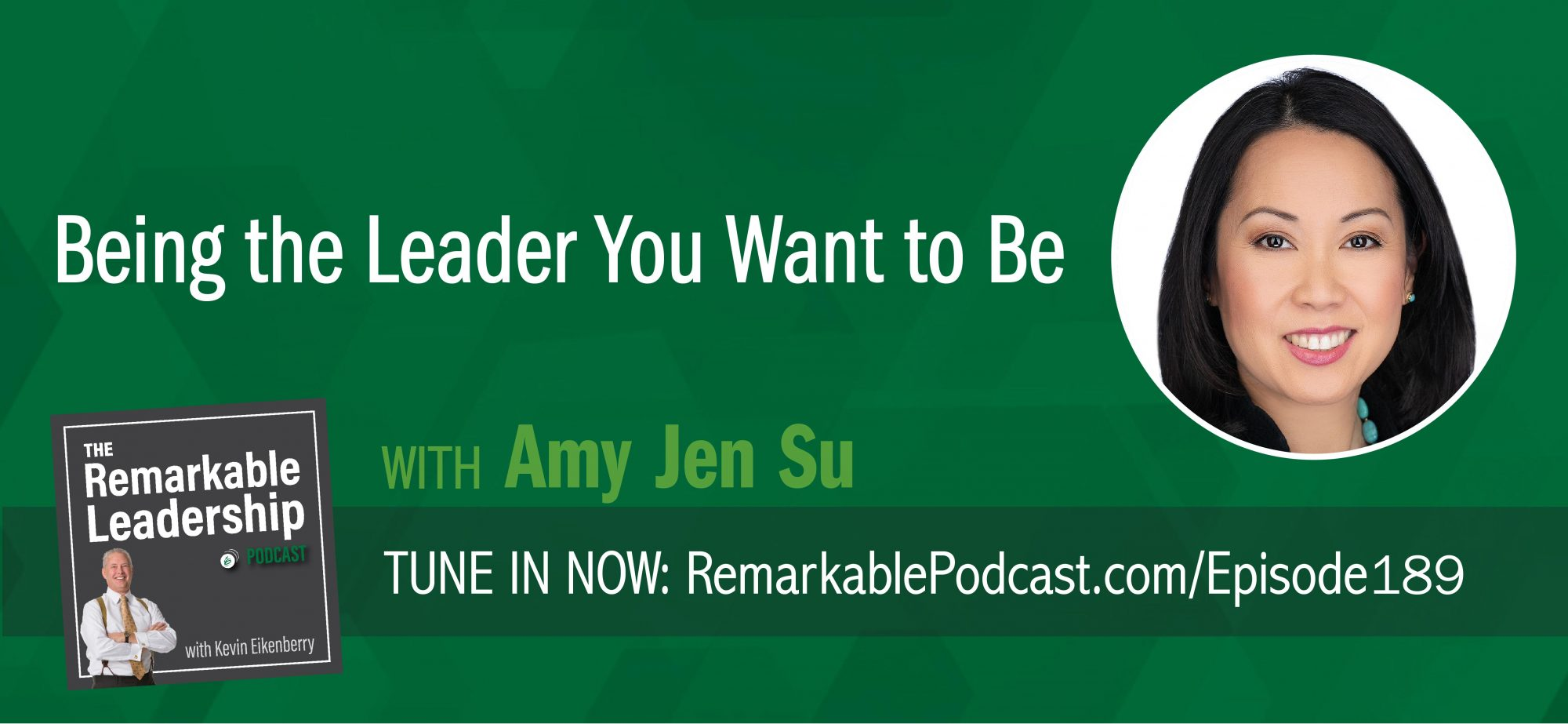 "You know those good days. You wake up energized and confident. You cross stuff off your list, have productive meetings, make good decisions. In short, you are your best self. The question becomes how do you bring your best self every day? Amy Jen Su is the author of The Leader You Want to Be: Five Essential Principles for Bringing Out Your Best Self—Every Day. She joins Kevin to discuss both the principles that bring out our best and the pitfalls that trap us. If we get caught up in ""doing"" and let the demands of life take over before we can connect to ourselves, we not only impact our best self but our team and our culture."