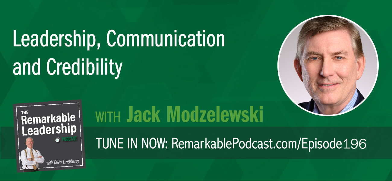Leadership and communication go hand in hand and most organizations are looking to improve communications with their teams. Jack Modzelewski is the author of Talk is Chief: Leadership, Communication and Credibility in a High-Stakes World and joins Kevin to discuss culture, communication, storytelling, and crisis management. Whether they realize it or not, Jack believes leaders are chief credibility officers. They create the communication culture in the organization. Leaders need to be themselves and bring all their experiences into communication, regardless of level. This is especially true in times of crisis or change. Executive communication should not only address the change but should include milestones and personal benefit.